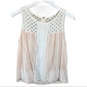 H&M Conscious Collection Blush Pink Boho Tank Top